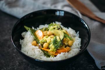 Wochenplan Vegan für Einsteiger: Kichererbsencurry