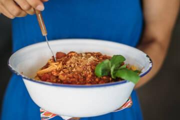 Wochenplan Vegan für Einsteiger: Vegane Bolognese