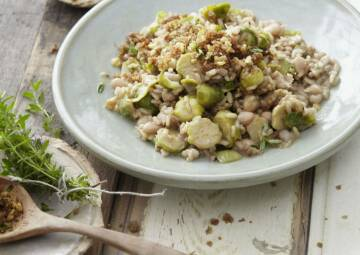 Wochenplan Vitamin C: rosenkohl bohnen risotto