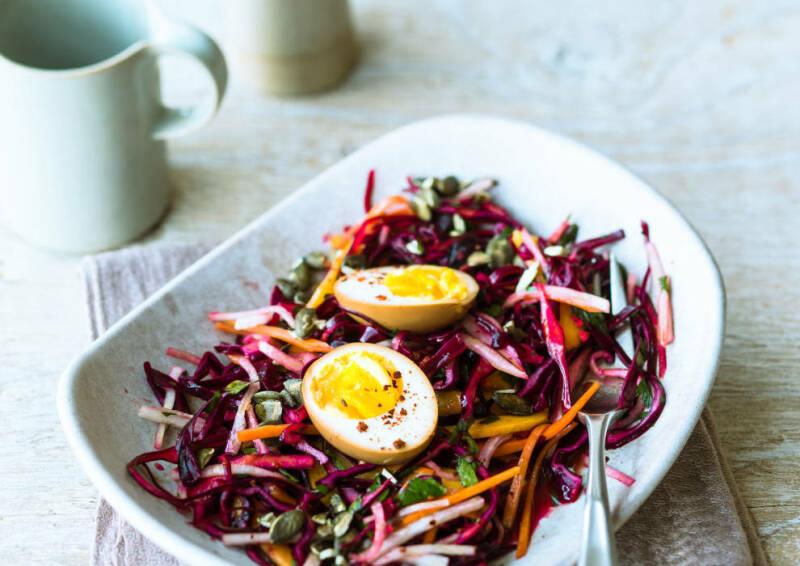 Wochenplan Vitamin C: rotkohl rettich coleslaw