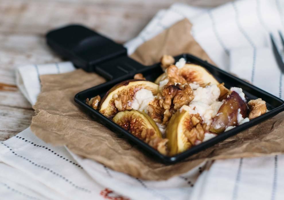 Ziegenkäse-Feigen-Raclette