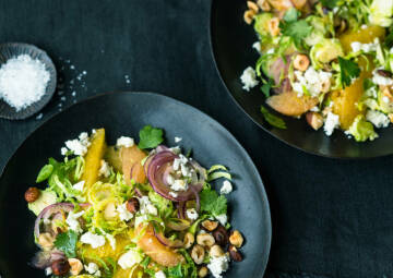 Zitrusfrischer Rosenkohlsalat