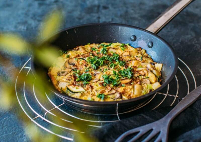 Zucchini-Pilz-Tortilla