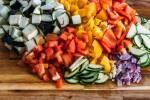 Zubereitung: Geschnittenes Gemüse 1x 1 cm