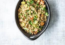Gemüseauflauf mit Couscouskruste