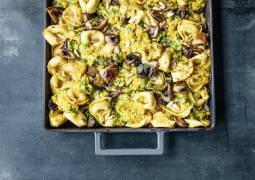 Tortellini-Pilz-Auflauf
