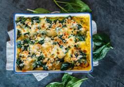 Vegetarisches Rezept: Spinat-Gnocchi-Auflauf mit Curry 1