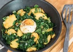 Vegetarisches Rezept: Grünkohlgröstl 1