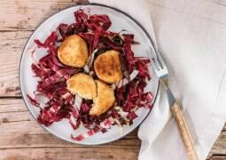 Vegetarisches Rezept: Risottoreisbällchen auf Radicchio-Bett 1