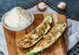 Vegetarisches Rezept: Gefüllte Zucchini_1
