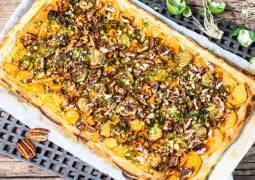 Vegetarisches Rezept: Süßkartoffel-Blätterteig-Tarte 1