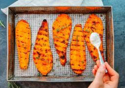 Vegetarisches Rezept: Süßkartoffeln vom Grill 1