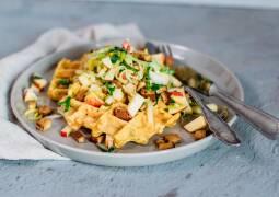Veganes Rezept: Gemüse-Waffeln mit Lauchsalat_1