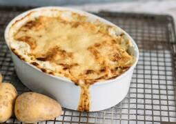 Überbackener Kartoffelgratin