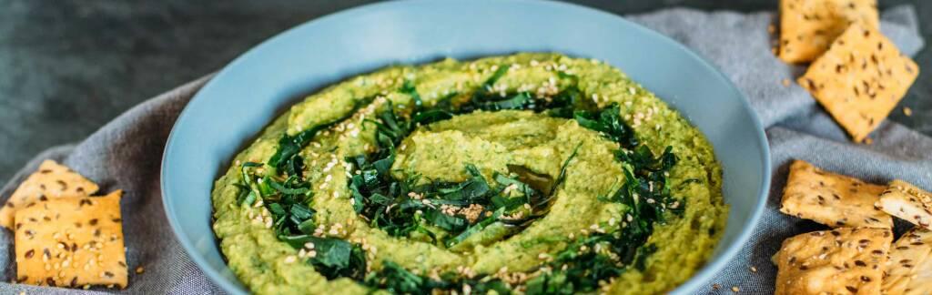 Veganes Rezept: Bärlauch-Hummus 2