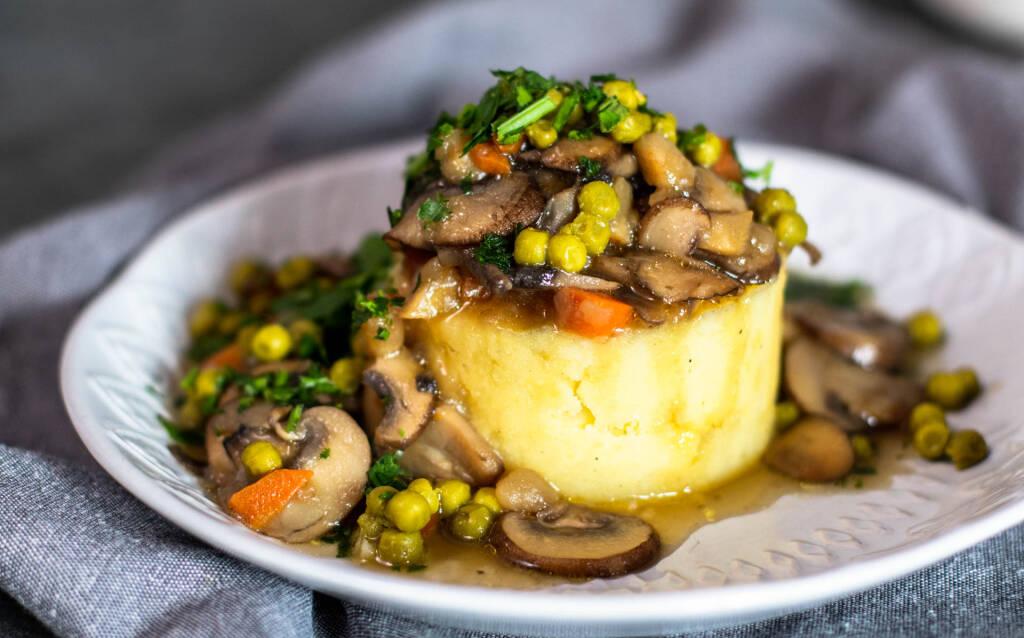 Veganes Rezept: Mashed potatoes mit Pilzragout 2