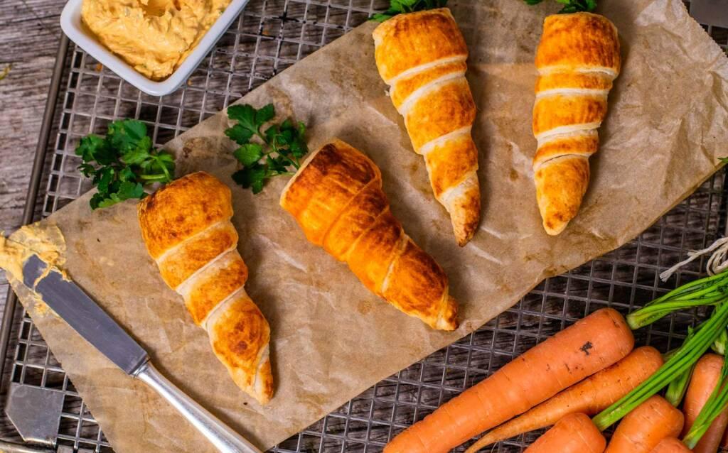Vegetarisches Rezept Blätterteigkarotten 2